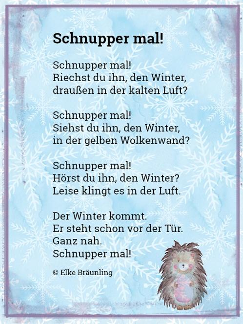 Schnupper mal! Winter