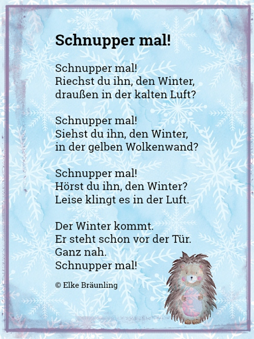 Schnupper mal! Winter