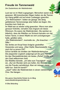 Freude im Tannenwald
