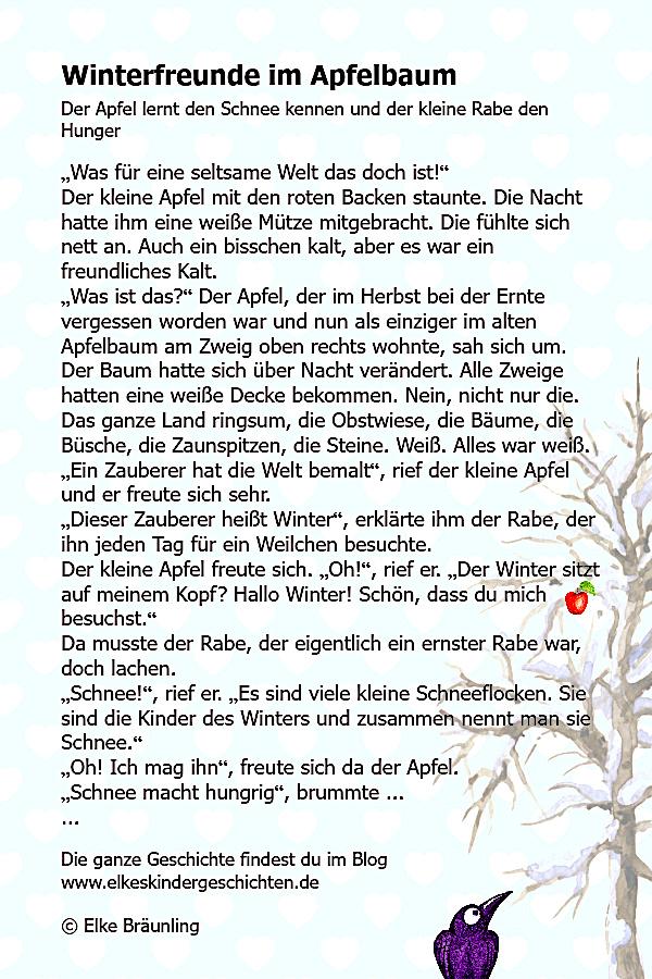 Winterfreunde Im Apfelbaum Winterzeit